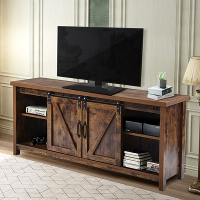 Gracie Oaks Tv Stands & Entertainment Centers You'll Love For Widely Used Blaire Solid Wood Tv Stands For Tvs Up To  (View 2 of 30)