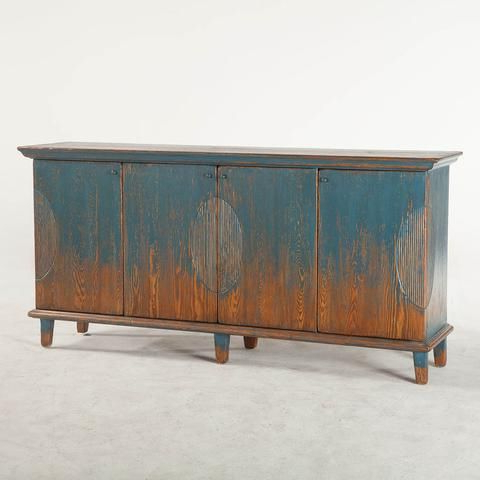"""Grieg 42"""" Wide Sideboards Throughout Current Library Sideboard – Antique Blue (View 23 of 30)"""