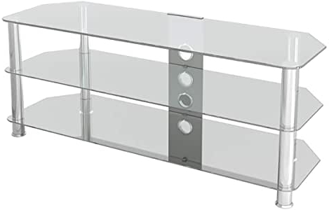 """Herington Tv Stands For Tvs Up To 60"""" Pertaining To 2019 Amazon: Avf Sdc1250cmcc A Classic – Corner Glass Tv (View 6 of 30)"""