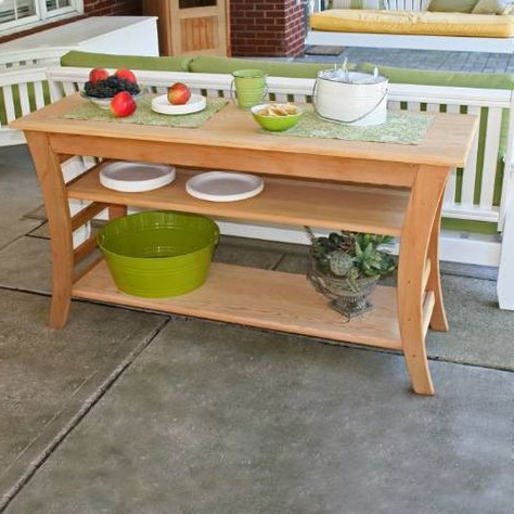 """Herringbone 48"""" Wide Buffet Tables Intended For 2019 Creekwine Design Ely4820cvd 48"""" Cedar Entertaining Buffet (View 19 of 30)"""