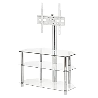 """Huntington Tv Stands For Tvs Up To 70"""" For Most Recently Released Amazon: Glass Tv Standmmt Cantilever — Fits Led (View 22 of 30)"""