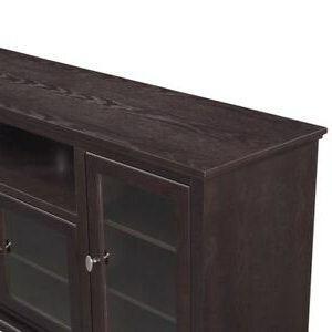 """Huntington Tv Stands For Tvs Up To 70"""" Regarding Newest Walker Edison 70"""" Wood Highboy Tv Stand In Espresso (View 10 of 30)"""