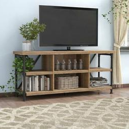 """Industrial 60"""" Tv Media Stand Cabin Wood Metal Within Favorite Miah Tv Stands For Tvs Up To 60"""" (View 16 of 30)"""