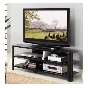"""Innovex Oxford Series 60 Inch Flat Screen Tv Stand Black Pertaining To Recent Evanston Tv Stands For Tvs Up To 60"""" (View 26 of 30)"""