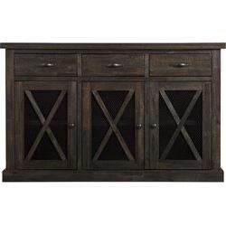 "Islesboro 58"" Wide Sideboards Regarding Well Liked Ivan 58"" Wide 3 Drawer Acacia Wood Sideboard & Reviews (View 25 of 30)"