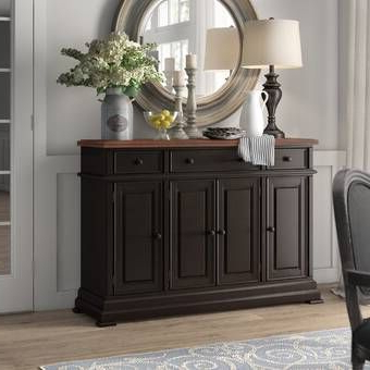 """Ismay 56"""" Wide 3 Drawer Sideboards Intended For Best And Newest Salinas 56"""" Wide 3 Drawer Sideboard In  (View 3 of 30)"""