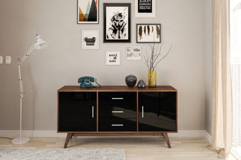 """Ismay 56"""" Wide 3 Drawer Sideboards With Regard To Most Recent The Shard 2 Door 3 Drawer Sideboard Is A Highly Functional (View 19 of 30)"""