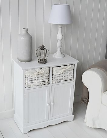 """Ismay 56"""" Wide 3 Drawer Sideboards With Well Known Maine White Sideboard Storage Furniture For Cottage Homes (View 30 of 30)"""