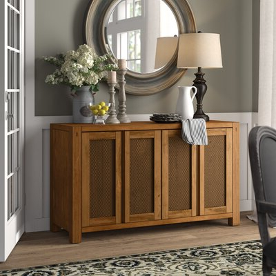 """Isra 56"""" Wide 3 Drawer Sideboards Pertaining To Widely Used Rustic & Farmhouse Sideboards, Buffets & Buffet Tables You (View 27 of 30)"""