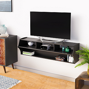 """Jace Tv Stands For Tvs Up To 58"""" Within 2020 Amazon: Black Altus Plus 58"""" Floating Tv Stand (View 11 of 30)"""