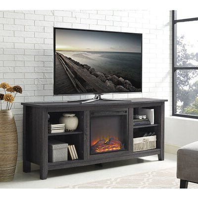 """Josie Tv Stands For Tvs Up To 58"""" Within Well Known Beachcrest Home Sunbury 58"""" Tv Stand With Electric (View 29 of 30)"""