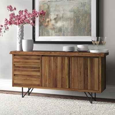 """Joss & Main In Bruin 56"""" Wide 2 Drawer Sideboards (View 20 of 30)"""