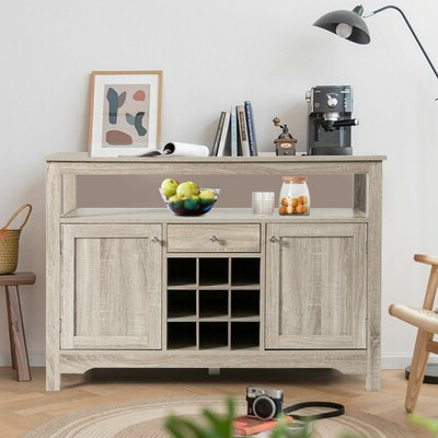 """Featured Photo of Fahey 58"""" Wide 3 Drawer Acacia Wood Sideboards"""
