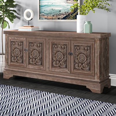 """Joss & Main Within Newest Fahey 58"""" Wide 3 Drawer Acacia Wood Sideboards (View 14 of 30)"""
