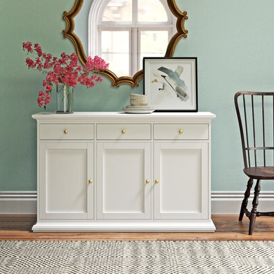 """Joss & Main Within Preferred Yukon 58"""" Wide 2 Drawer Pine Wood Sideboards (View 6 of 30)"""