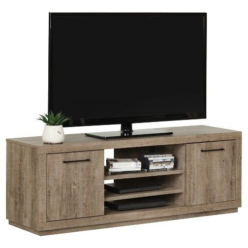 """Kanji Tv Stand For Tvs Up To 60'' – Weathered Oak – South Within Well Liked Herington Tv Stands For Tvs Up To 60"""" (View 5 of 30)"""