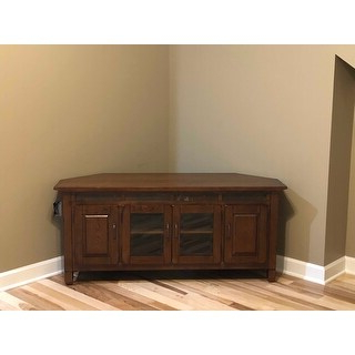 Kemble Tv Stands For Tvs Up To 56 Pertaining To Newest Shop Rustic Oak Wood/ Slat Tile 56 Inch Corner Tv Stand (View 10 of 30)