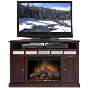 """Kemble Tv Stands For Tvs Up To 56 Throughout Latest Fire Creek 56"""" Corner Fireplace Media Centerlegends (View 9 of 30)"""