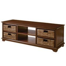 """Kemble Tv Stands For Tvs Up To 56 Throughout Well Liked Holtom Chestnut Brown 56"""" Tv Stand With Baskets (View 27 of 30)"""