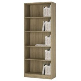 """Kidham 68"""" Wide Sideboards With Trendy 4 You Tall Wide Bookcase In Sonoma Oak (View 29 of 30)"""