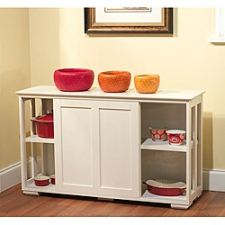 Kitchen Furniture – Overstock Shopping – Find The Best Within Favorite Wood Accent Sideboards Buffet Serving Storage Cabinet With 4 Framed Glass Doors (View 10 of 30)
