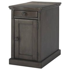 Laflorn Chairside End Table With Usb Ports & Outlets In In Widely Used Millwood Pines Floor Storage Cabinet With 2 Doors And 2 Open Shelves (View 29 of 30)