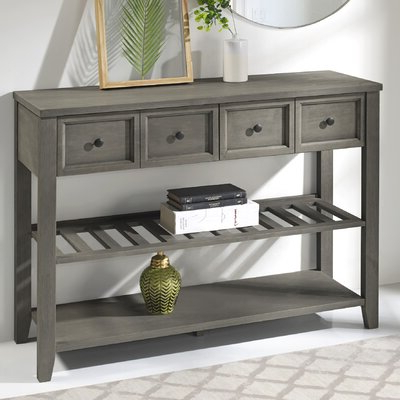 """Latest Caila 60"""" Wide 3 Drawer Sideboards Regarding Sideboard / Credenza Wine Bottle Storage Equipped (View 11 of 30)"""