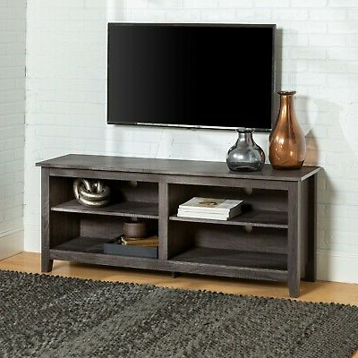 """Latest Gray Tv Stand Home Entertainment Center Cabinet Media In Lorraine Tv Stands For Tvs Up To 60"""" (View 3 of 30)"""