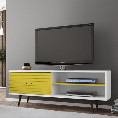 """Latest Lorraine Tv Stands For Tvs Up To 60"""" Regarding Mistana Hal Tv Stand For Tvs Up To 60 Inches Color: White (View 28 of 30)"""