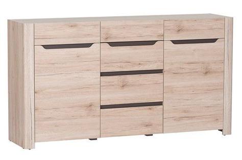 Latest Selby Light Oak Effect 2 Door 4 Drawer Wide Sideboard In Chouchanik 46 Wide 4 Drawer Sideboards (View 25 of 30)