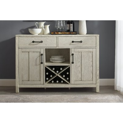 """Latest Slattery 52"""" Wide 2 Drawer Buffet Tables Throughout White Sideboards & Buffets You'll Love In (View 8 of 30)"""