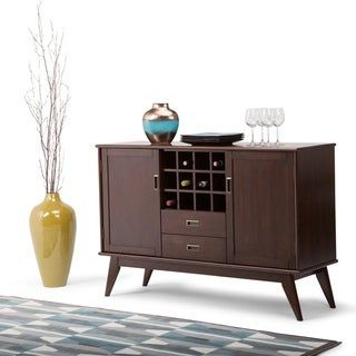 """Latest Stovall 72"""" Wide Sideboards In Wyndenhall Tierney Solid Hardwood 54 Inch Wide Mid Century (View 12 of 30)"""
