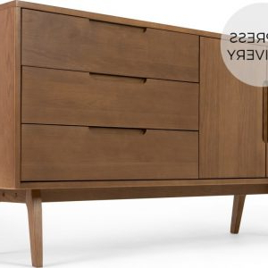 """Latest Strock 70"""" Wide Mango Wood Sideboards Intended For Kilby Compact Sideboard, Black Stained Mango Wood And (View 2 of 30)"""