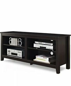 """Latest Walker Edison 58 Inch Wood Tv Stand Storage Console In Regarding Berene Tv Stands For Tvs Up To 58"""" (View 12 of 30)"""
