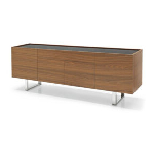 Latest Wood Accent Sideboards Buffet Serving Storage Cabinet With 4 Framed Glass Doors Intended For Avanti Furniture – Italian Contemporary Furniture Design (View 28 of 30)