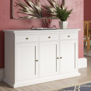 """Laurel Foundry Modern Farmhouse Colborne 58"""" Wide 3 Drawer With Regard To Most Recently Released Keiko 58"""" Wide Sideboards (View 5 of 30)"""