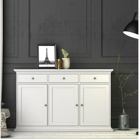 """Laux 56.57"""" Wide 3 Drawer Sideboards Within Popular Semaj  (View 6 of 30)"""
