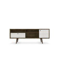 """Lewis Mid Century Modern 70.86"""" Tv Stand With 4 Shelving With Regard To Most Popular Neuhaus (View 9 of 30)"""