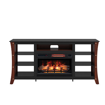 """Lucille Tv Stands For Tvs Up To 75"""" Pertaining To Famous Ari Tv Stand For Tvs Up To 75"""" With Electric Fireplace (View 13 of 30)"""