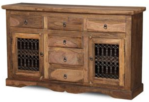 """Macdonald 36"""" Wide Mango Wood Buffet Tables For Most Up To Date Jali Natural Corner Tv Unit (View 30 of 30)"""