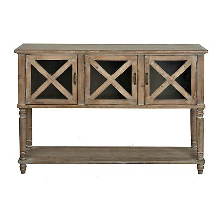 """Macdonald 36"""" Wide Mango Wood Buffet Tables In Best And Newest Farmhouse Buffet Table With Glass Doors – Glass Door Ideas (View 14 of 30)"""