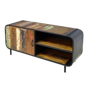 """Macdonald 36"""" Wide Mango Wood Buffet Tables Within Preferred Moniaive Distressed Mango Wood And Metal Single Door 120cm (View 10 of 30)"""