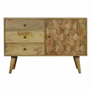 """Maddox 80"""" Wide Mango Wood Sideboards Pertaining To Best And Newest Mid Century Sideboard Scandinavian Retro Oak Cabinet Solid (View 10 of 30)"""