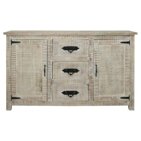 """Maddox 80"""" Wide Mango Wood Sideboards With Most Popular Crafted Of Solid Mango Wood From India, This Casual (View 12 of 30)"""