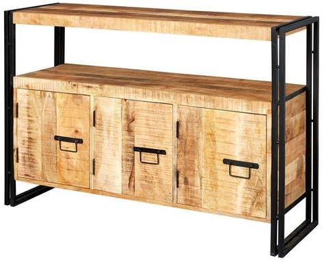 """Maeva 60"""" 3 Drawer Sideboards For Well Liked Indian Hub Cosmo Industrial Sideboard With 3 Drawer (View 18 of 30)"""