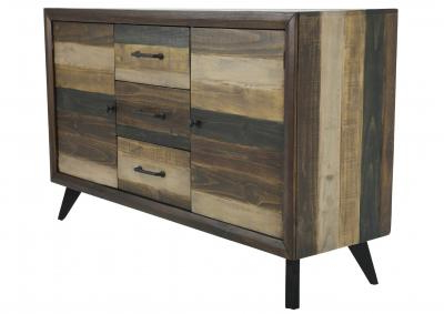 """Maeva 60"""" 3 Drawer Sideboards Inside Recent Victoria 3 Drawer Buffet Ivan Smith (View 14 of 30)"""