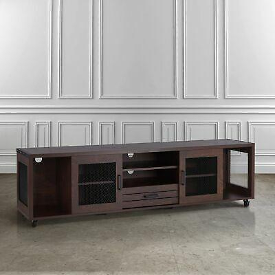 """Mainor Tv Stands For Tvs Up To 70"""" With 2020 Misenia Industrial Vintage Walnut 70 Inch Tv Stand (View 17 of 30)"""