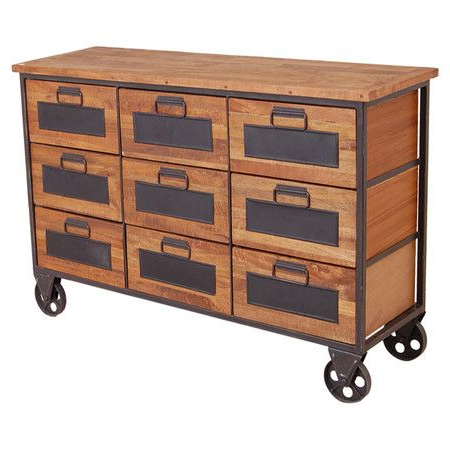 """Mango Wood Sideboard, Industrial Within Well Known Maddox 80"""" Wide Mango Wood Sideboards (View 5 of 30)"""