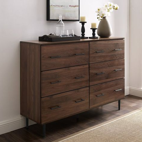 """Marc 52"""" Wide 6 Drawer Sideboard (View 13 of 30)"""