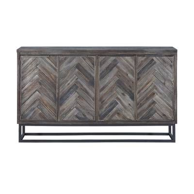 """Media Credenza, Furniture, Stylish Credenza Within Thame 70"""" Wide 4 Drawers Pine Wood Sideboards (View 20 of 30)"""